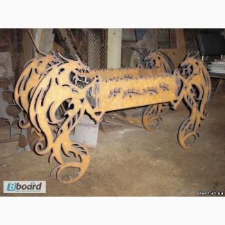 Декоративный раскладной мангал Драконы 2