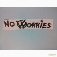 Наклейка на авто no worries-Не беспокойся Тюнинг авто