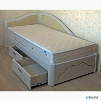 Кровать двуспальная из массива ясеня с ящиками Анна от производителя