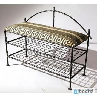 Кованая мебель купить! Скамейка подставка для обуви Бамбук 1 КПД6.1