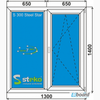 Окна металлопластиковые STEKO и двери в Чернигове и Киеве