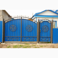 Ворота въездные, распашные, кованые