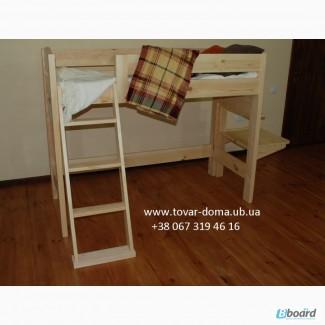Купить кровать-чердак со столом Недорого