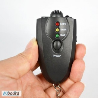 Персональный алкотестер для водителя брелок с фонариком