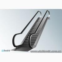 Стеклянные ограждения для эскалаторов и подъемников, стекло на эскалатор