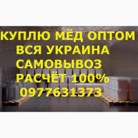 Куплю мёд В ЧЕРКАССКОЙ и соседние обл. САМОВЫВОЗ своим транспортом