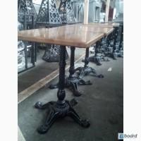 Продам деревянные столы бу с чугунной ножкой для кафе