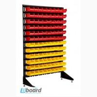 Универсальный стеллаж стойка с лотками для крепежных материалов