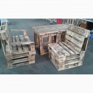 Мебель из поддонов, уличная мебель, стол, лавка