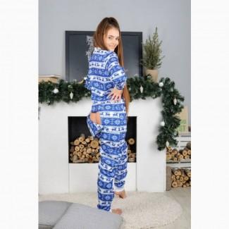 Зимняя пижама с карманом на попе! Дарите любимым тепло