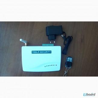 Сигнализация Tesla Security GSM-550(Два радио брелка и блок питания)