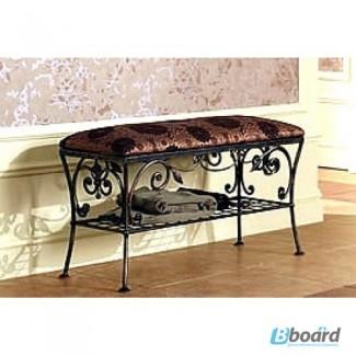 Кованая мебель для дома и дачи! Скамейка для прихожей Уют Браун КПД1.1