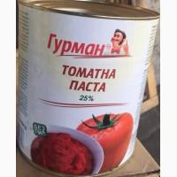 Томатная паста 25% ж/б 3 кг; ведро 5 кг