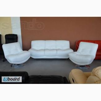 Комплект кожаной мебели (диван+кресла) R-2515