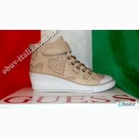 Сникеры женские кожаные фирмы Guess оригинал из Италии