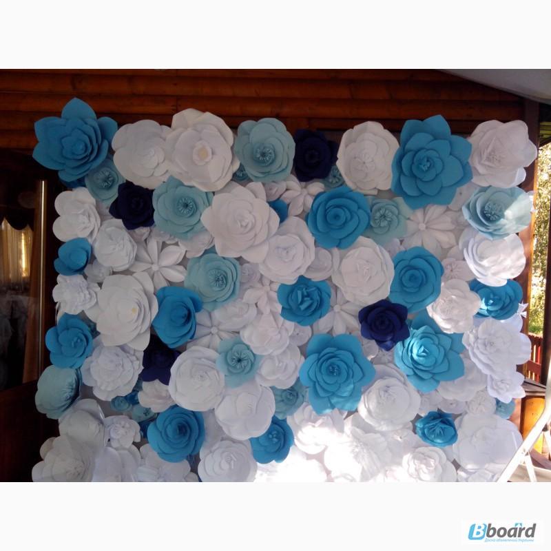 Украшения свадьбы цветами из бумаги своими руками