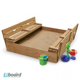 Детская песочница с крышкой, песочница трансформер
