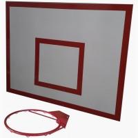 Баскетбольный щит металл 0, 8м. х1, 0м. с кольцом