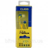 Продам наушники Sertec SQ-44 сине-желтые с гербом Украины