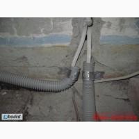 Прокладка провода в гофре