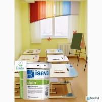 Интерьерная экологически чистая краска ISAVAL Дуин-Экологико 4 л белая и тонированная