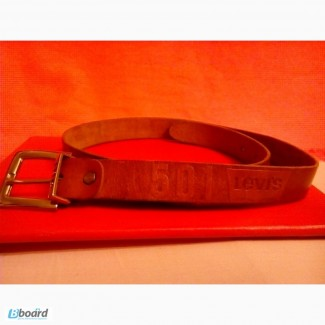 Брендовый кожаный пояс Levi Strauss Co 501