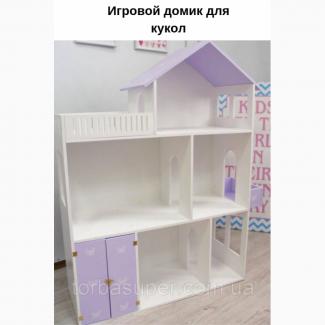 Кукольный домик деревянный TorbaSuper, ручной работы