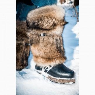 Зимняя обувь - Унты из волка