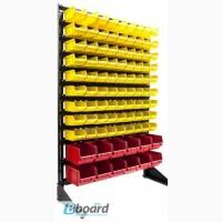 Складской стеллаж стойка односторонняя 1, 5 м + 93 ящиков пластиковых