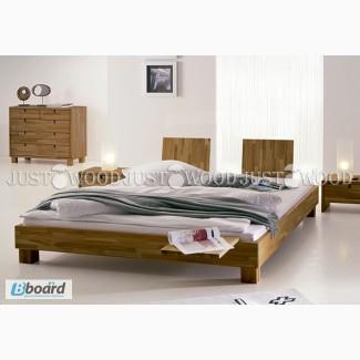 Двуспальная кровать Манхэттэн и натурального дерева