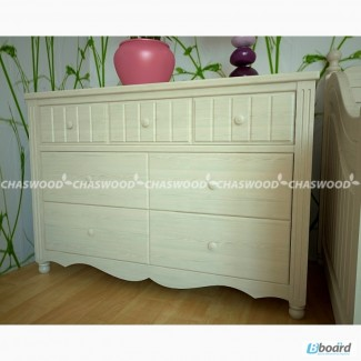 Комоды, шкафы детской спальни Алиса из натурального дерева