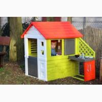 Детский домик Smoby 127cм с летней кухней + тележка с мороженным