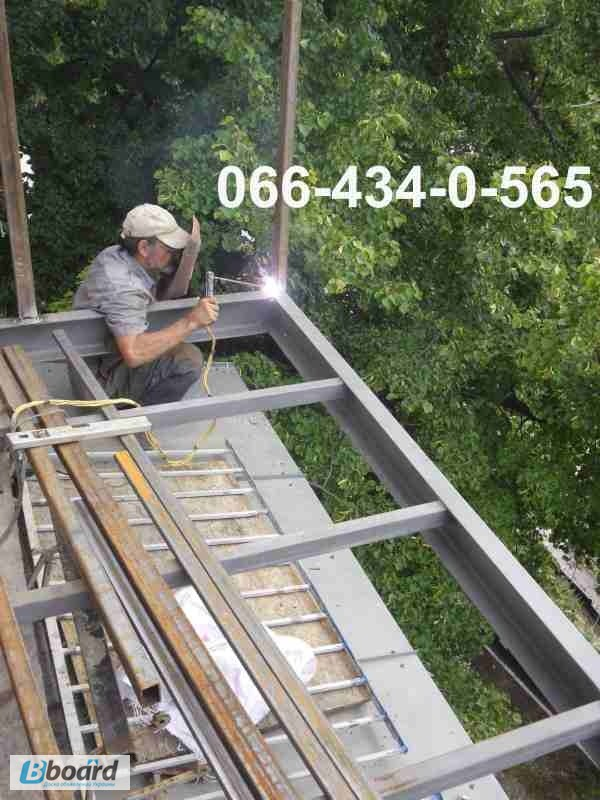 Фото к объявлению: вынос балкона по полу. расширение балконн.