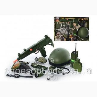 Детский военный набор: автомат, каска, фляга, маска