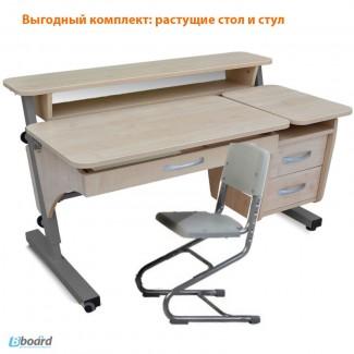 Стол письменный и стул школьнику Эргономический