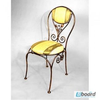 Кованый стул со спинкой КСС2