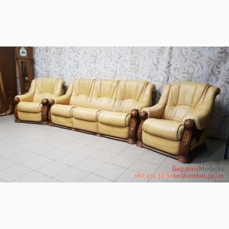 Кожаный комплект мягкой мебели 3+1+1 из Германии