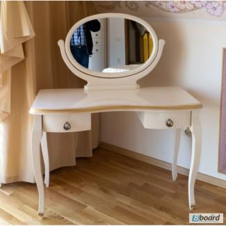 Элитный туалетный стол из массива ясеня Император от производителя ЧП Калашник