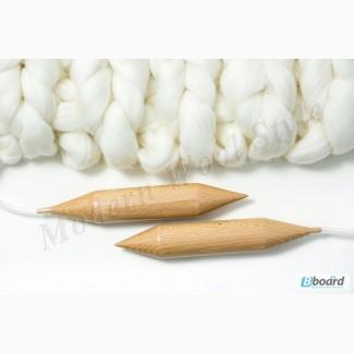 Спицы для вязания круговые буковые. Диаметр 35мм