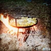 Сковорода из диска дисковой бороны пикника - кришка і чехол додатково