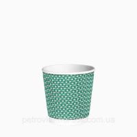Гофрированные стаканы Зеленая точка РЯБЬ 110мл