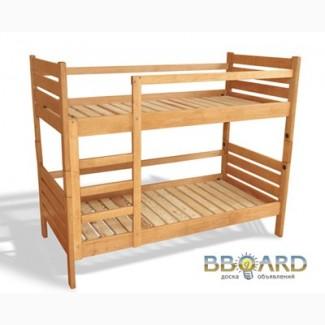 Кровати двухъярусные детские деревянные массив ольха отличное кач