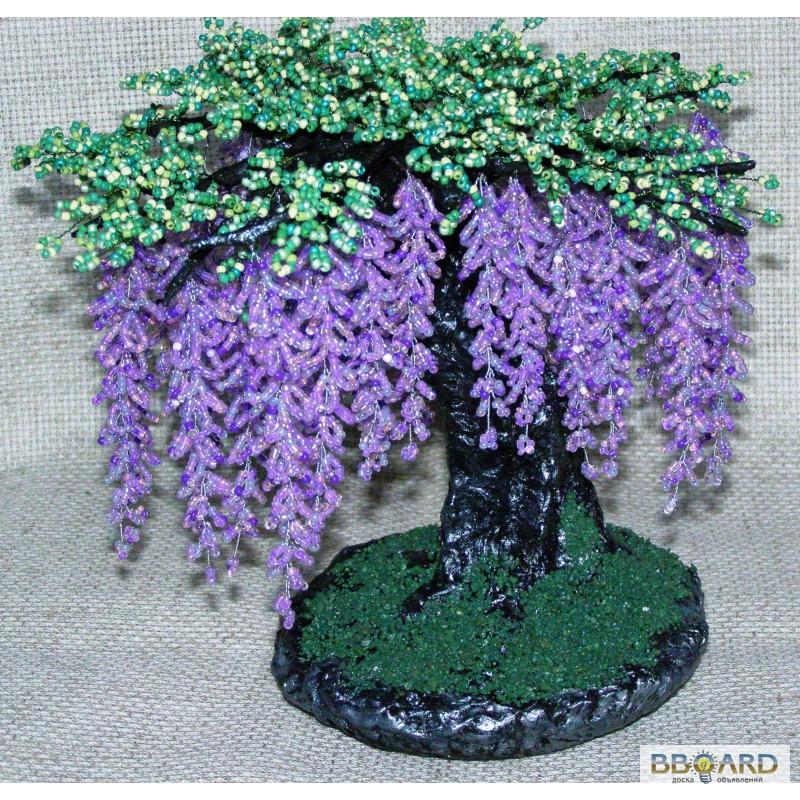 дерево из бисера глициния - Проверенные схемы.
