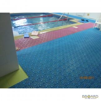 Модульное покрытие для бассейнов, аквапарков, саун, душевых и прочье