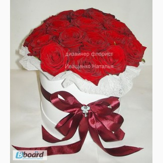 FlowerBox на Валентина, Цветы в коробке в Киеве
