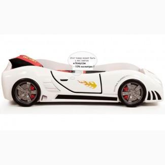 Детская кровать в виде автомобиля Extra turbo power + подарок
