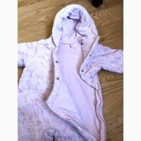 Демисезонный комбинезон на девочку 12 месяцев в идеальном состоянии