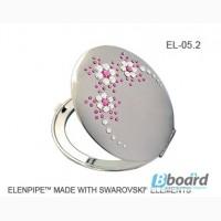 Зеркальца косметические оптом EL-05, 06 Flowers SWAROVSKI