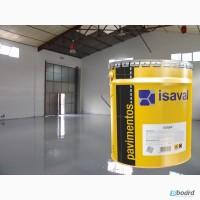 Краска для бетонных полов lSAVAL Изалпокс Эпоксидная 4 л- гаражи, склады, паркинги, СТО