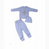 Комплект для новорожденных, хлопок, байка